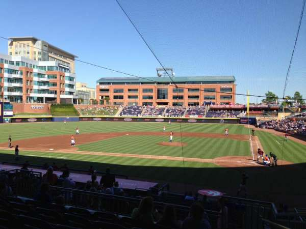 Durham Bulls Athletic Park, section: 205, row: R, seat: 1