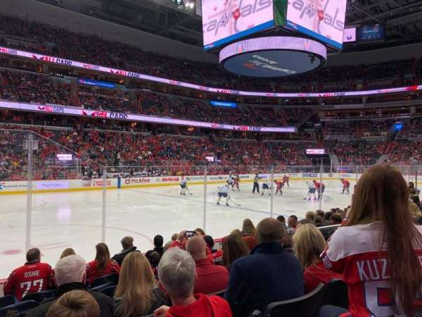 Capital One Arena, section: 109, row: H, seat: 5