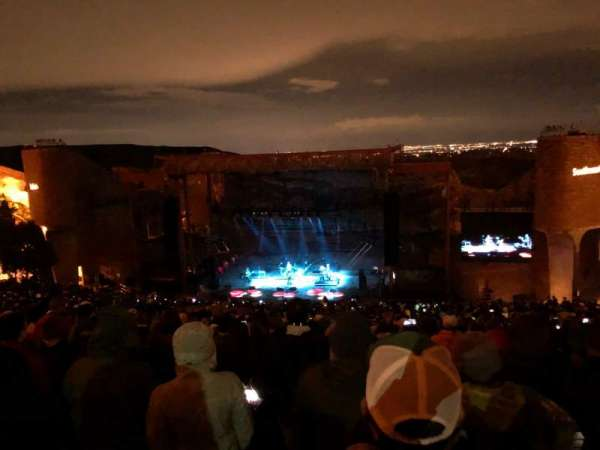 Red Rocks Amphitheatre, row: 34, seat: 53