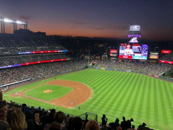 Coors Field, section: U317, row: 22, seat: 15