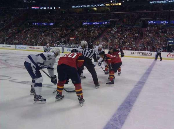BB&T Center, section: 117, row: 1, seat: 7 and 8