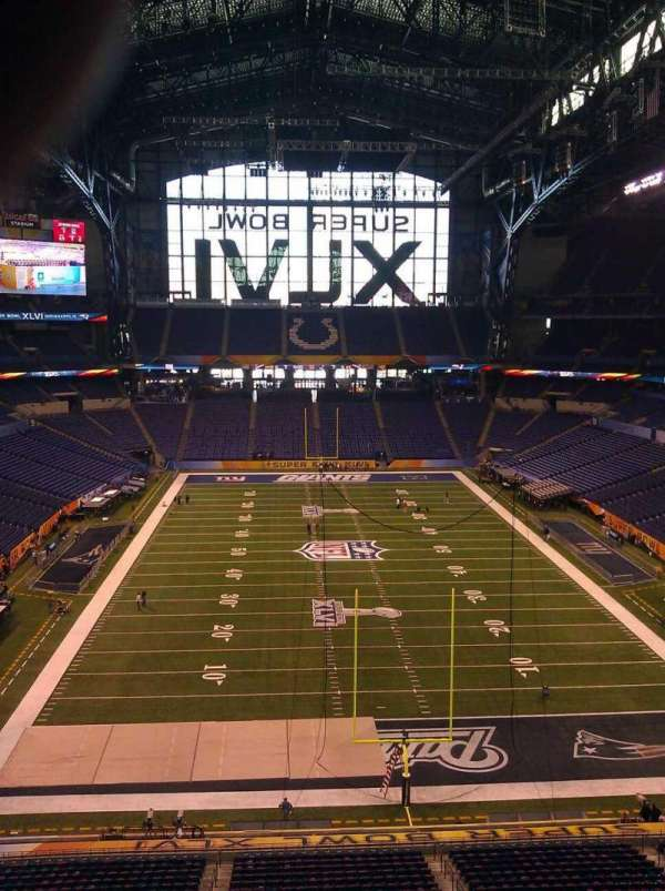 Lucas Oil Stadium, section: Press Box