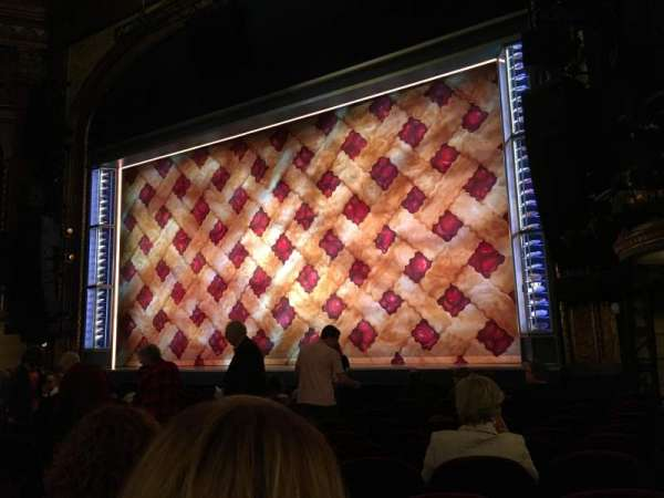 Brooks Atkinson Theatre, section: Orchestra R, row: K, seat: 16
