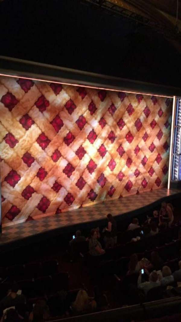 Brooks Atkinson Theatre, section: Front Mezzanine L, row: A, seat: 23