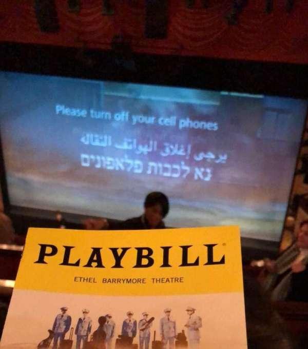 Ethel Barrymore Theatre, section: Rear Mezzanine R, row: D, seat: 2