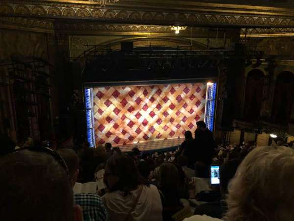 Brooks Atkinson Theatre, section: Rear Mezzanine LC, row: K, seat: 128