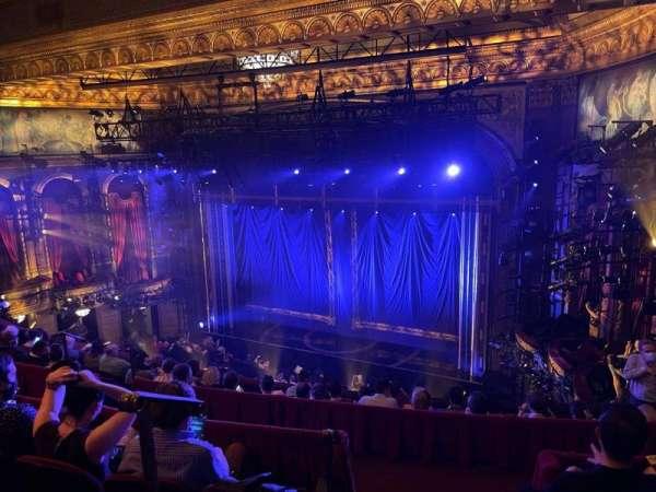 Brooks Atkinson Theatre, section: Rear Mezzanine R, row: H, seat: 2