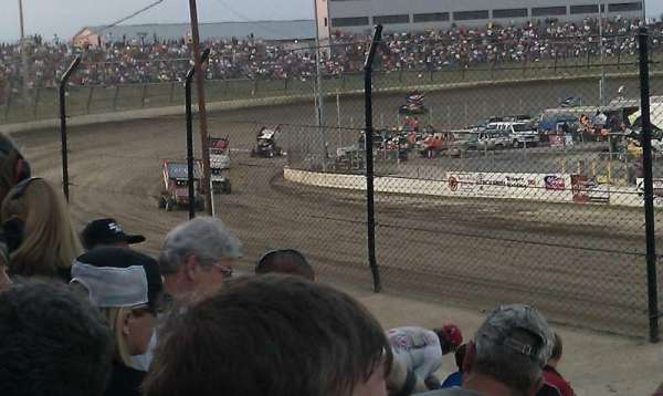 Eldora Speedway, section: D, row: 20, seat: 1