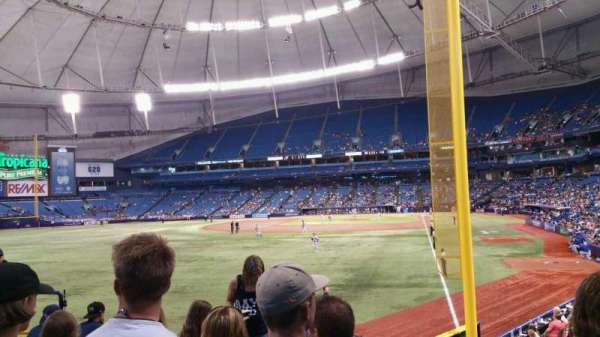 Tropicana Field, section: 139, row: Z, seat: 7
