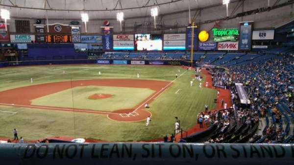 Tropicana Field, section: 203, row: A, seat: 6
