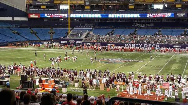 Tropicana Field, section: 128, row: TT, seat: 10