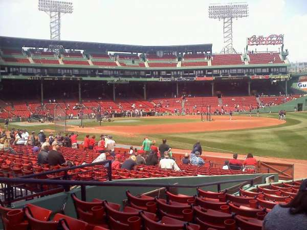 Fenway Park, section: 10-B97, row: hh, seat: 7