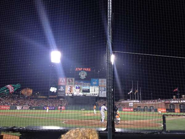 AT&T Park, section: DC 115, row: BBB, seat: 13