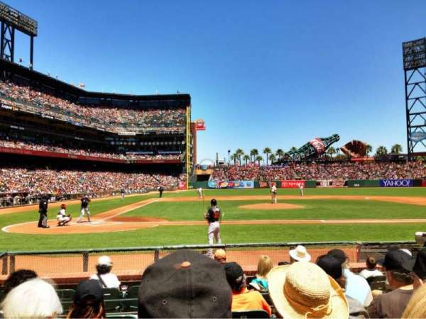 Oracle Park, section: 110, row: E, seat: 4