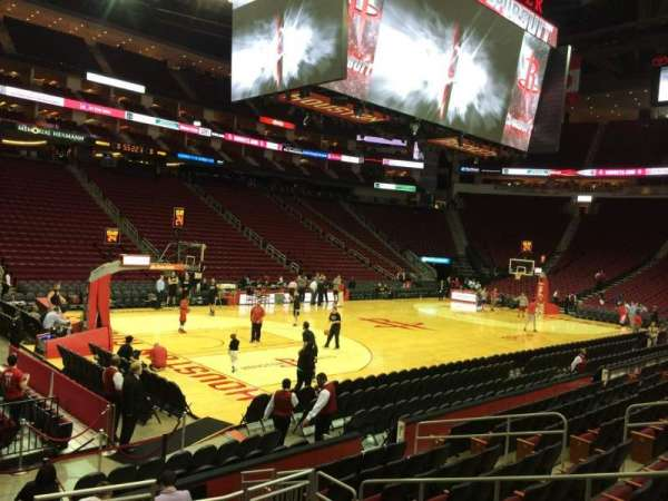 Toyota Center, section: 111, row: 10, seat: 1
