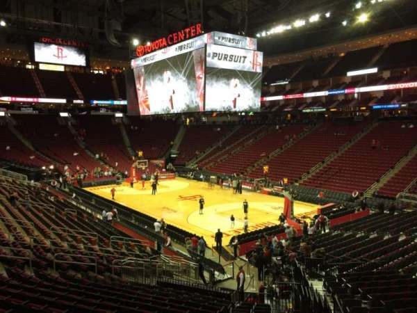 Toyota Center, section: 103, row: 23, seat: 1