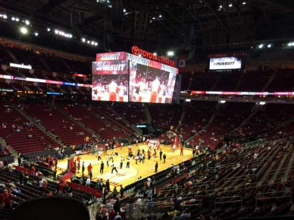 Toyota Center, section: 111, row: 25 , seat: 19