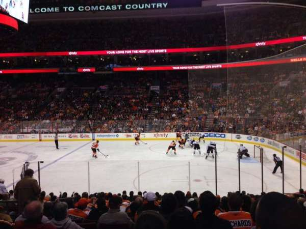 Wells Fargo Center, section: 103, row: 17, seat: 7
