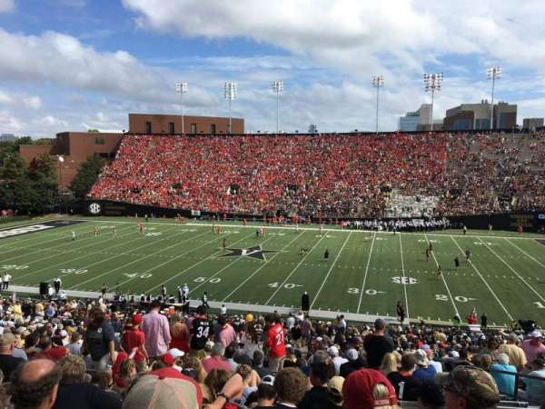 Vanderbilt Stadium, section: E, row: 46, seat: 25