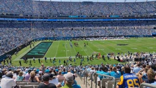 Bank of America Stadium, section: 319, row: 14, seat: 1