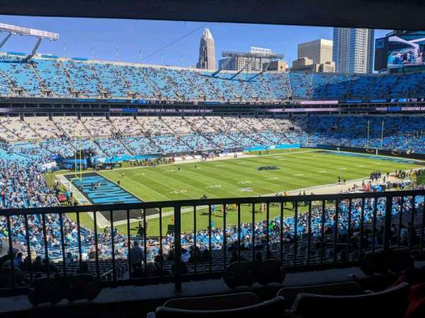 Bank of America Stadium, section: 349, row: 23, seat: 4