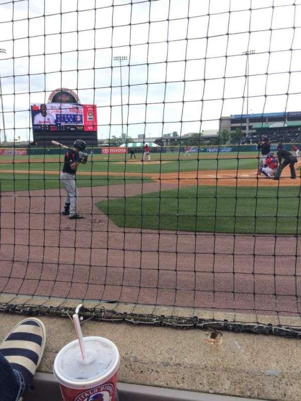 Sahlen Field, section: 101, row: 1, seat: 4