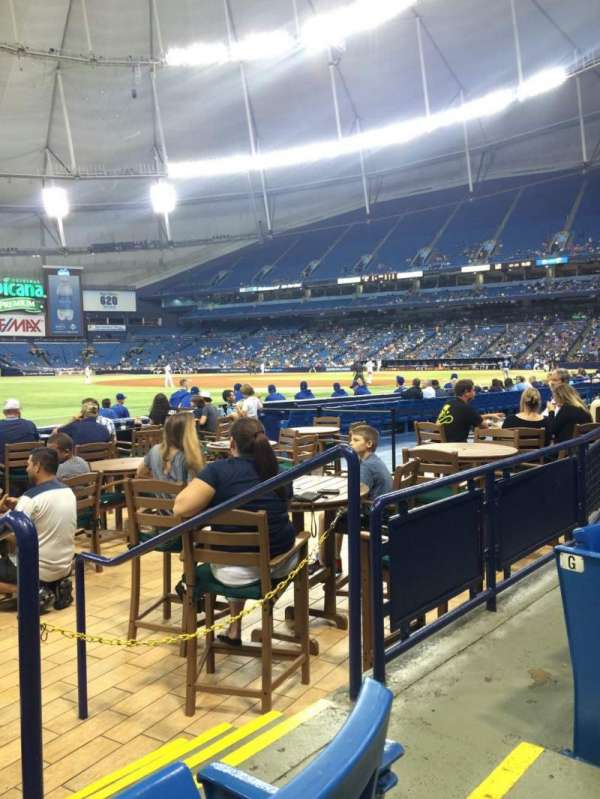 Tropicana Field, section: 131, row: H, seat: 10