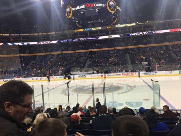 KeyBank Center, section: 117, row: 12, seat: 4