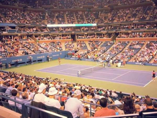 Arthur Ashe Stadium, section: 115, row: 1, seat: 4