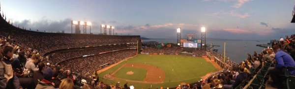 Oracle Park, section: 307, row: 8, seat: 18