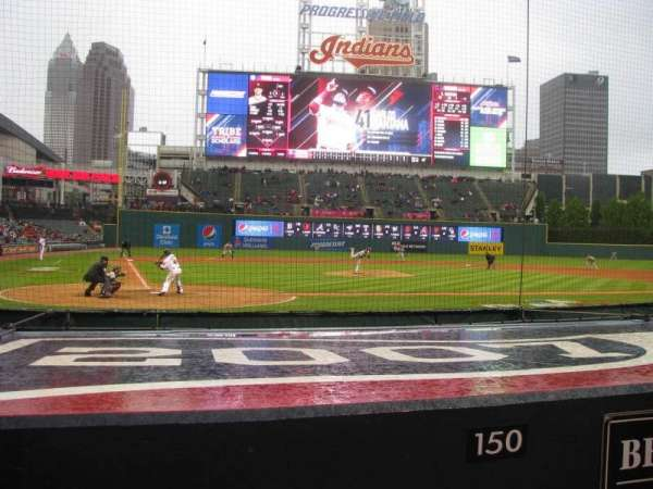 Progressive Field, section: 150, row: A