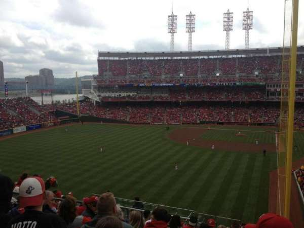 Great American Ball Park, section: 404, row: T, seat: 9