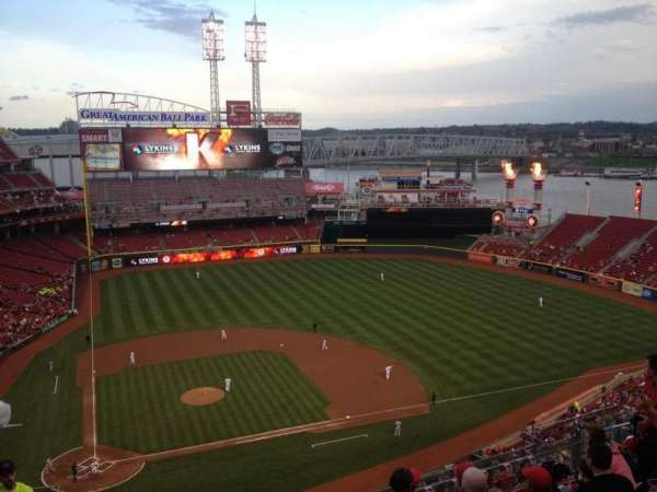 Great American Ball Park, section: 528, row: J, seat: 18
