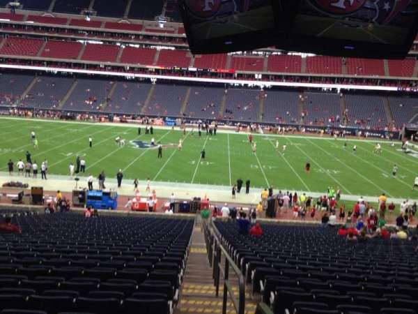 NRG Stadium, section: 109, row: JJ, seat: 23
