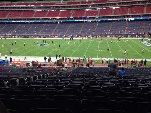 NRG Stadium, section: 104, row: J, seat: 5