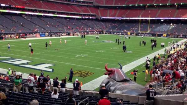 NRG Stadium, section: 113, row: U, seat: 17