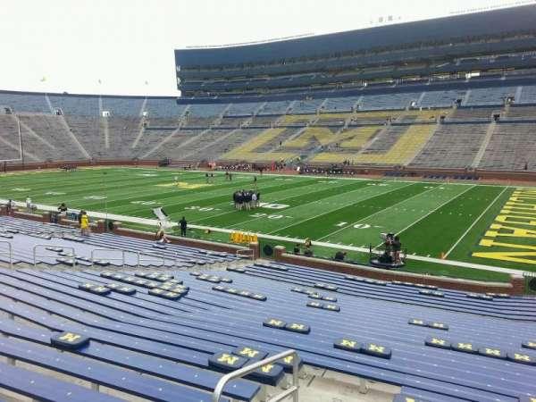 Michigan Stadium, section: 19, row: 30, seat: 10