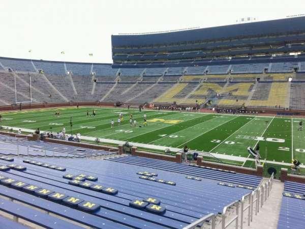 Michigan Stadium, section: 21, row: 30, seat: 13