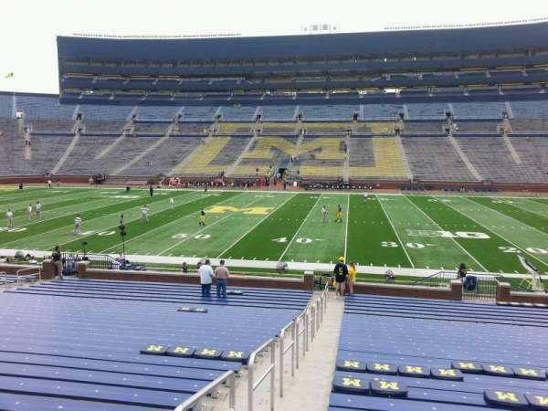 Michigan Stadium, section: 22, row: 30, seat: 13