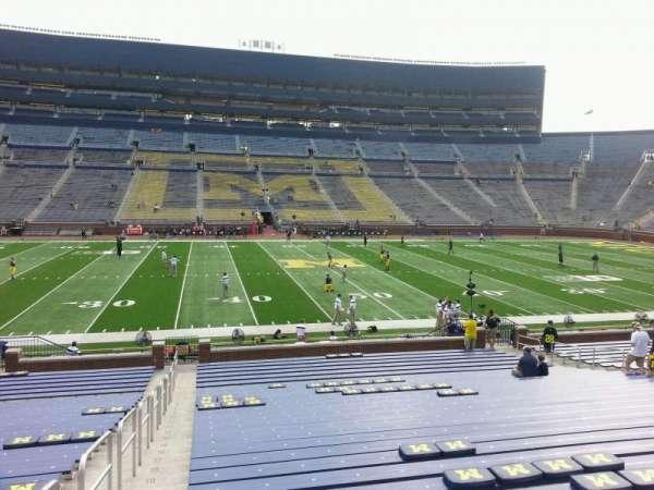Michigan Stadium, section: 24, row: 30, seat: 13