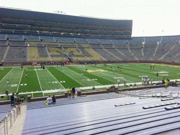 Michigan Stadium, section: 25, row: 30, seat: 13