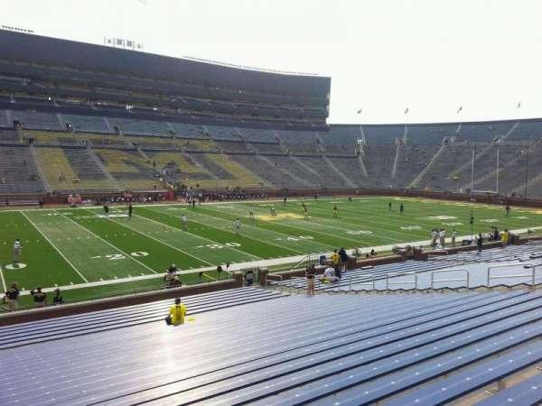 Michigan Stadium, section: 26, row: 30, seat: 13