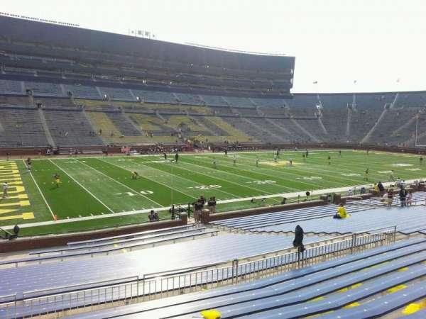 Michigan Stadium, section: 27, row: 30, seat: 10