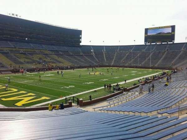 Michigan Stadium, section: 29, row: 30, seat: 10