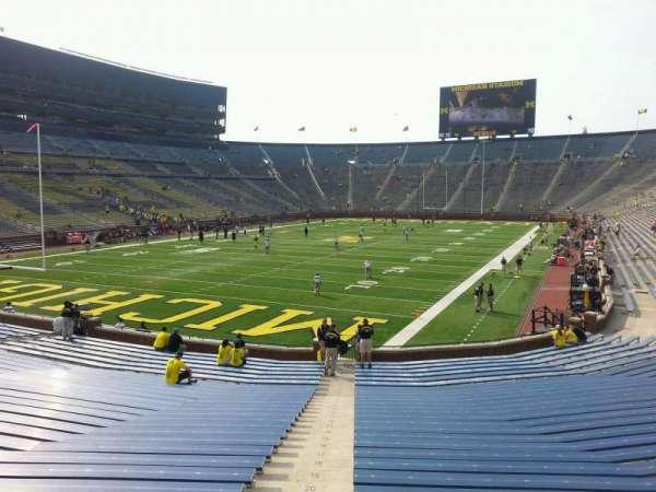 Michigan Stadium, section: 31, row: 30, seat: 10