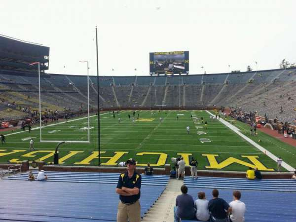 Michigan Stadium, section: 33, row: 30, seat: 13