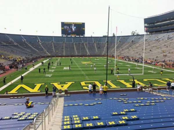 Michigan Stadium, section: 35, row: 30, seat: 13
