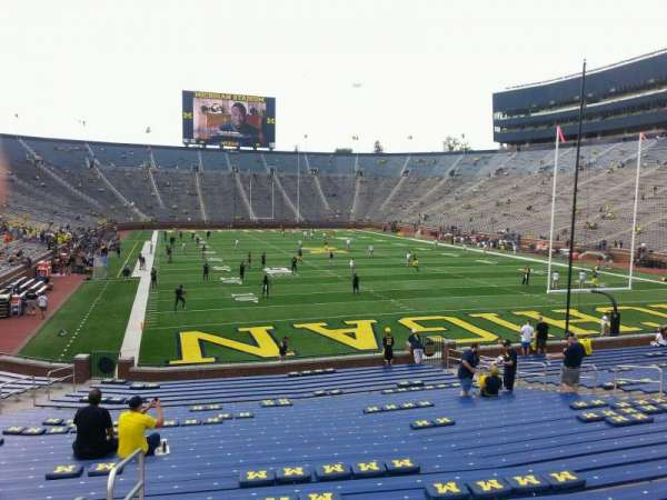 Michigan Stadium, section: 36, row: 30, seat: 10