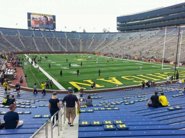 Michigan Stadium, section: 37, row: 30, seat: 10