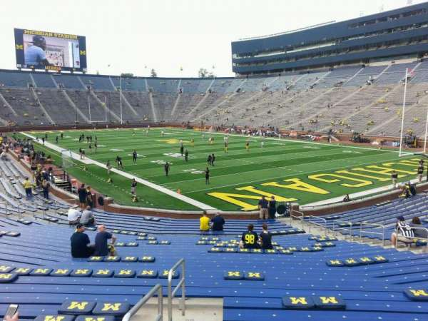 Michigan Stadium, section: 38, row: 30, seat: 9